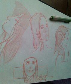 Red sketch..Sam Gonzalez ©
