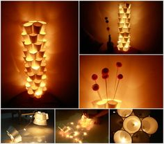 Paper Cup and LED String Lamp