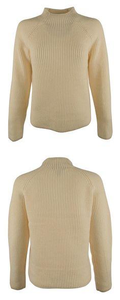 $34.99 - Lauren Ralph Lauren Womens Wool Ribbed Pullover Sweater Ivory #ralphlauren