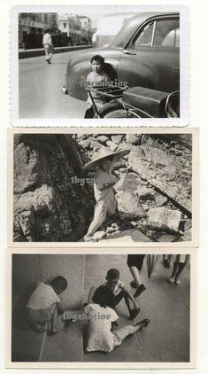 Hong Kong Chinese street / beach children 1960 old Photographs Ethnic China