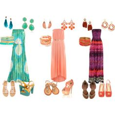 Cute maxi dresses with shoe and jewelry ops for day/night :)