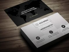Check out creative World Map Business Card by bouncy on Creative Market