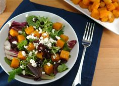 Roasted Butternut Squash Salad with Maple Balsamic Vinaigrette