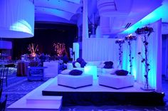 "Create a lounge area on stage for a ""VIP"" area."