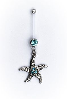 Island Starfish Belly Ring Retainer Flexible Maternity Pregnancy Plus Size Retainer Ring. Nickel and Allergy Free - 14G / LOW SHIPPING The Jewelry Archivist http://www.amazon.com/dp/B00WNTQ08W/ref=cm_sw_r_pi_dp_-9FAvb0MQZ7E9
