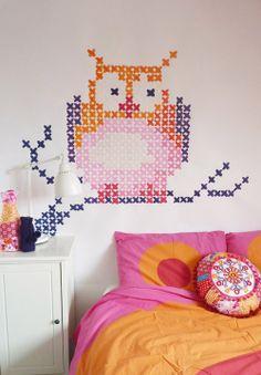 My Owl Barn: Eline Pellinkhof: Cross Stitch Mural