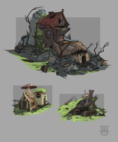 ArtStation - Abandoned house in the woods, Artem Priakhin