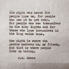 THE NIGHT | QUOTES | M E G H A N ♠ M A C K E N Z I E