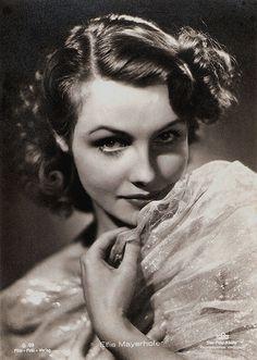 Elfie Mayerhofer German postcard by Film-Foto-Verlag, no. G 99, 1941-1944. Photo: Star-Foto-Atelier / Tobis.
