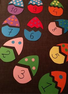 Counting Apples Montessori Busy Bag Matching Game, Fine Motor, Learning Colors and Numbers, Toddler Preschool Learning Activities, Easter Activities, Toddler Activities, Preschool Activities, Kids Crafts, Kids Education, Art For Kids, Ideas, Instagram Tbt