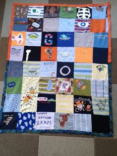 Custom made Memory Quilts made from Baby Onesies by goldmineaz, $150.00