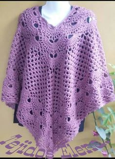 Discover thousands of images about Crochet poncho Poncho Au Crochet, Crochet Poncho Patterns, Crochet Coat, Crochet Jacket, Crochet Scarves, Crochet Clothes, Crochet Stitches, Knitting Designs, Prayer Shawl