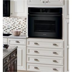 Frigidaire - Built-In Single Electric Wall Oven - Black Built In Microwave Cabinet, Oven Cabinet, Microwave In Kitchen, Built In Ovens, Built In Cabinets, New Kitchen, Kitchen Ideas, Kitchen Stuff, Kitchen Designs