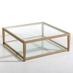 Table basse Junon, plateaux en verre