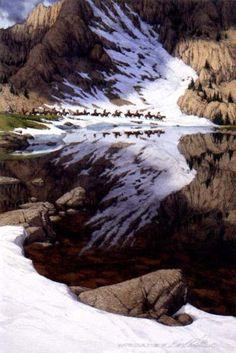 [LRS Art Medley] Bev Doolittle, Season of the Eagle Illusion Kunst, Illusion Art, Hidden Images, Hidden Pictures, Native Art, Native American Art, American Indians, Bev Doolittle, Duck Art