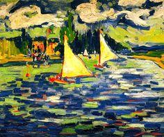 Sailboats at Chatou, Maurice de Vlaminck - 1905 (by BoFransson)