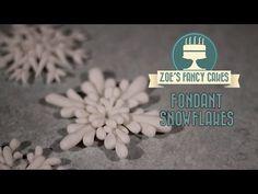 Fondant snowflake cake topper modelling paste how to cake decorating tutorial - YouTube
