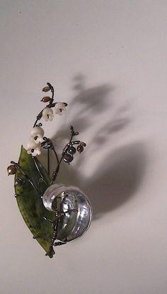 Lily of the Valley Brooch, 2011   http://work.s-nakaba.com/  @Rachel Sanders Dragons   SHINJI NAKABA