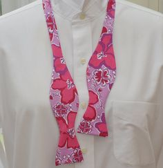 Men's Bow Tie in Lilly Sigma Kappa sorority fabric by CCADesign on Etsy