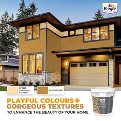 The ultimate combination of natural granite chip with silicon additives raise your home exterior's grandeur and water repellency.  #ExteriorTextures #BergerPaintsIndia #PaintYourImagination