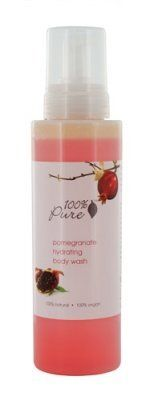 100% Pure 100% Pure Hydrating Body Wash - Pomegranate 17 oz - 17 oz by 100% pure. $14.36. All Natural. Made in the USA. Foaming Body Wash. 17 fl oz. Gluten Free. Hydrating body wash leaves you sparkling clean and refreshed while nourishing your skin with vitamins, antioxidants and skin brightening fruits. No harsh detergents, no synthetic chemicals, no artificial fragrances or any other toxins that can strip, irritate or dehydrate your delicate skin. Truly, 100% Pure. 17 oz