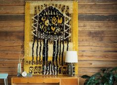 Canaria by Aappo Härkönen Wall Rugs, Tuli, Rya Rug, Wall Hangings, Mixed Media Art, Candle Sconces, Wall Lights, Weaving, Cross Stitch