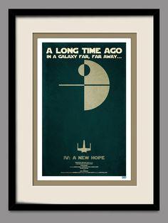 Star Wars  A New Hope  Retro Movie Poster 11x17 Print by joneallen, $18.00