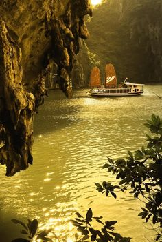 """Golden light in Halong Bay, Vietnam - """"Avoid travel during the Tet holiday in January and February. Tet is a Christmas and New Year's celebration rolled into one, and anyone and everyone is going """"over the river and through the woods"""" to their respective grandmother's house."""" New York Times  - Vietnam is a large country with opposing weather in the geographical regions. Best to check on average weather before you book. It is a beautiful country and well worth a visit."""
