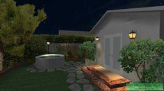 CAD 3D -- Cottage Garden -- Night