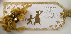 Suzz's Stamping Spot: Golden Christmas - I am catching up to Linda and her Holiday Tag challenge.