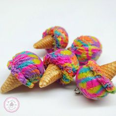 I did this funky ice creams a while back and I completely forgot about them How would you call them? I think I will be listing them together with the next charm update on September 29th #handmade #craftsposure#WIP #polymerclay #icecream #colorful #raiinbow #icecreamcone #ooak #beautiful #love #friday #weekend #imadeit #yaaas #summer #fimo #charms