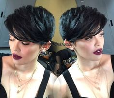 cute short hairstyle for thick hair
