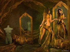 2013 Danielle Bouwmans ''spiegel '' by Peter Kemp Rembrandt, Foto Art, Art Music, Dungeons And Dragons, Storytelling, Art Photography, Photo Galleries, Princess Zelda, Fantasy
