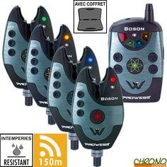 Coffret Prowess Centrale Boson 4 détecteurs Chrono Carpe pour mobile
