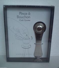 L'Atelier Du Vin Pince à Bouchon Cork Opener For Bottles Types Of Champagne, Cork, Sparkling Wine, General Store, Hard To Find, Wine Bottles, Finger, Paris France, Ontario