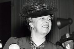 First Lady Elinor Roosevelt at the Waldorf.