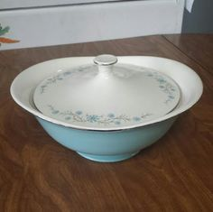 Check out this item in my Etsy shop https://www.etsy.com/listing/270644211/vintage-aqua-serving-bowl-turquoise