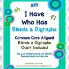 This I Have Who Has game contains 25 cards using 24 of the most common blends and digraphs.  This game is designed to give students practice in iso...