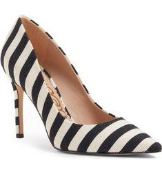 White + Black at its best. Sam Edelman Heels