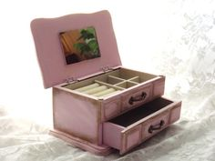 MBS Wooden Vintage Jewelry Box French Style by LetaPearlEmporium