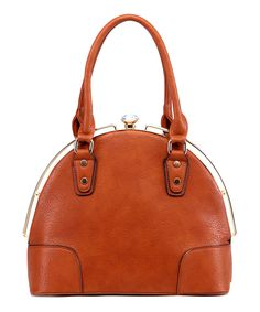 Look at this #zulilyfind! MKF Collection Cognac Brown Rocha Satchel by MKF Collection #zulilyfinds