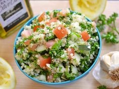 quinoa tabbouleh: even better the day after you make it. I love that it uses quinoa, which has more protein in it then tabouli.