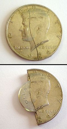 The blade of this innovative new covert escape knife is concealed inside of a fifty-cent US coin! It features an aggressive circular blade made of superior quality Japanese steel which can cut cord, rope, duct tape, plastic zip-ties, and other non-metalli Urban Survival, Survival Tips, Survival Knife, Just In Case, Just For You, Fifty Cent, Take My Money, Tips & Tricks, Knives And Swords