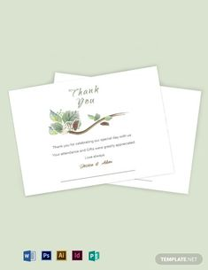 Professionally Designed/ Written Free Fall Wedding Thank You Card Template Template - Easily Download, Edit & Print in Illustrator (ai), InDesign (idml), MS Word (doc), Photoshop (psd), Publisher (pub)
