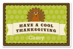 The Cool Turkey Placemat for Kids at Frecklebox