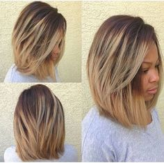 Love the blonde tips in this shoulder length Bob....xoxo