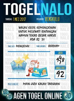 Kode Paito 3D Togel Wap Online TogelNalo Bengkulu 1 Mei 2017