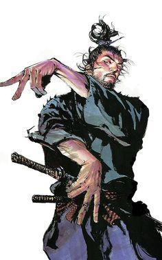 #Vagabond autor: Takehiko Inoue #Musashi #Miyamoto #manga #color #samurai #katana