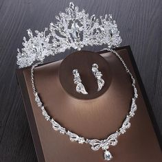 Silver Bridal Crowns, Silver Tiara, Rhinestone Wedding, Crystal Wedding, Gold Rhinestone, Rhinestones, Bride Tiara, Wedding Jewelry Sets, Wedding Accessories