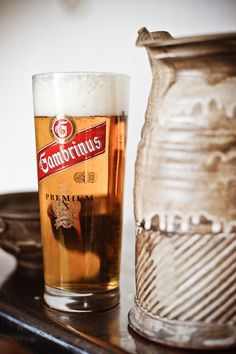 The Czechs consume more beer per capita than anybody, even the Germans. Here is one of the most common beers, Gambrinus.